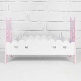 "Bed for dolls ""Princess"" of 41.5×25,5×27 cm"