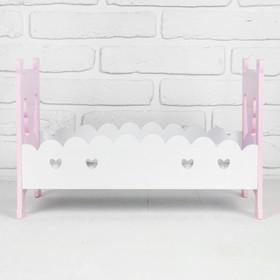 """Кровать для кукол """"Для принцессы"""" 41,5×25,5×27 см"""