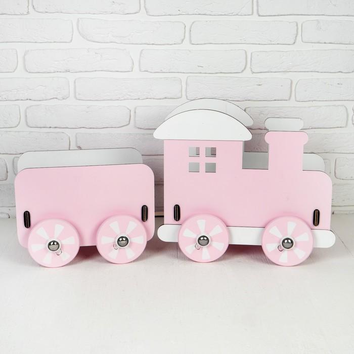 """Паровозик для кукол """"Классика"""" розовый 72×25×34 см"""