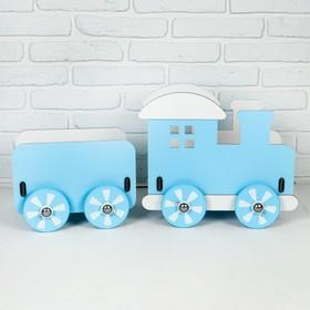 """Паровозик для кукол """"Классика"""" голубой 72×25×34 см"""