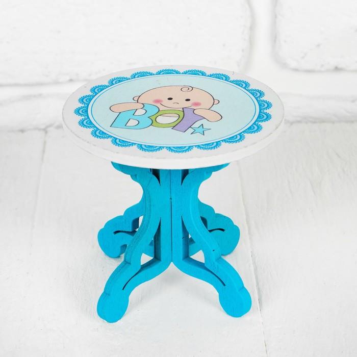 """Столик для кукол """"В голубом цвете"""" 9×8×9 см"""