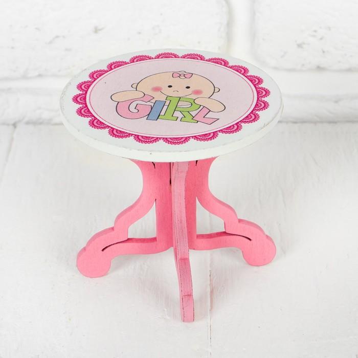 """Столик для кукол """"В розовом цвете"""" 9×8×9 см"""