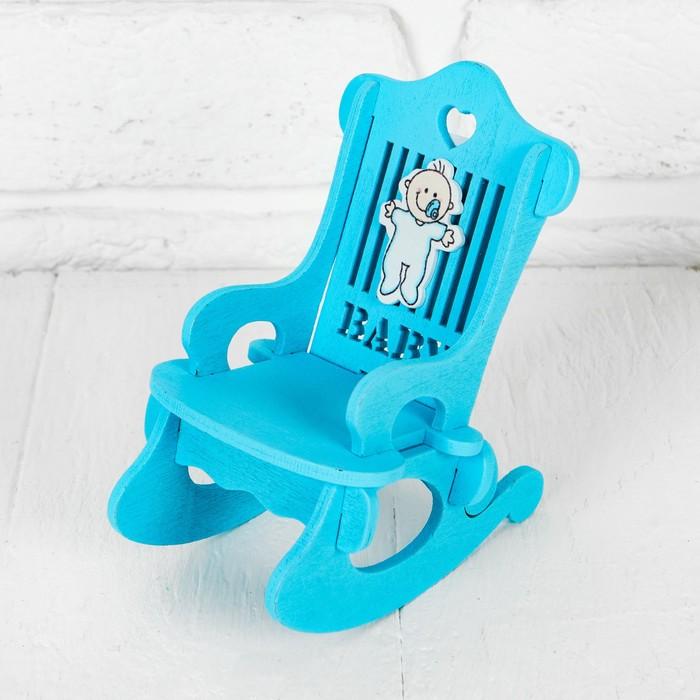 """Кресло для кукол """"В голубом цвете"""" 10×7×13 см"""