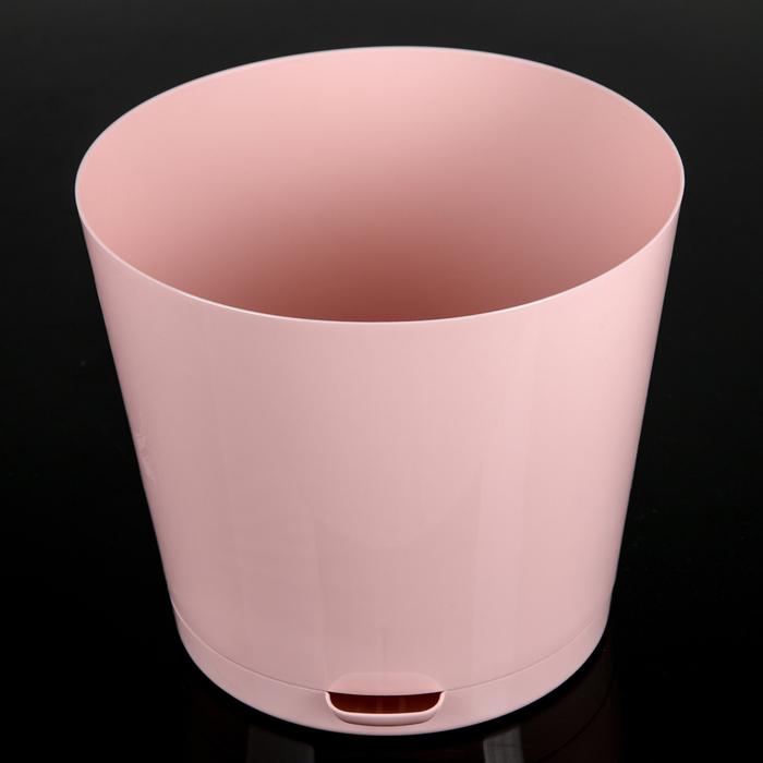 Горшок для цветов 2 л Easy Grow, D=16 см, с прикорневым поливом, цвет английская роза - фото 308843151