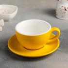 A couple of tea Caramel: Cup 300 ml, saucer 15,5 cm, color yellow