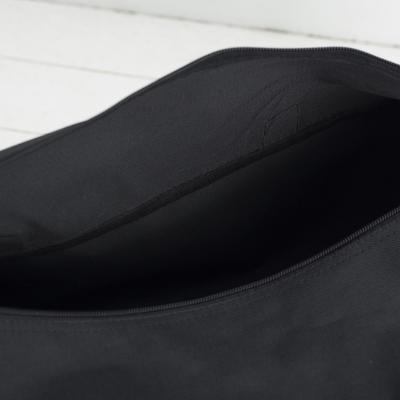 Сумка спортивная, отдел на молнии, длинный ремень, цвет серый/чёрный