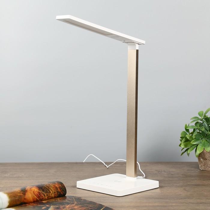 Лампа настольная LED 7Вт USB 3000-6000К золото