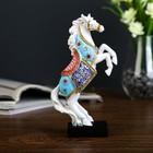 """Souvenir Polyresin """"a White horse in a coloured blanket dybah"""" 18х10,5x4,5 cm"""