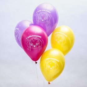 """Воздушные шары «С Днём Рождения», Щенячий патруль, 5 шт., 12"""""""