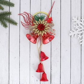 "Christmas decoration ""jingle Bells"" flower 12*30 cm, red"