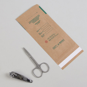 Крафт-пакет для стерилизации, 75 × 150 мм, цвет коричневый