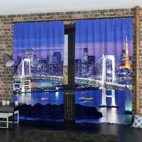 Фотошторы «Бруклинский мост 2», размер 145 х 260 см, блэкаут