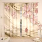 Фотошторы «Ювелирные цветы», размер 145 × 260 см,  блэкаут