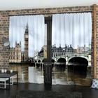 Фотошторы «Пасмурный Лондон», размер 145 × 260 см, габардин