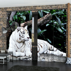 Фотошторы «Белый Тигр», размер 145 × 260 см, габардин