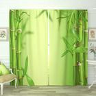 Фотошторы «Нежный бамбук», размер 145 × 260 см, габардин