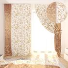 Фотошторы «Жезель», размер 145 × 260 см, габардин