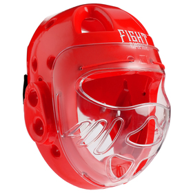 Шлем для рукопашного боя FIGHT EMPIRE, размер XL, цвет красный