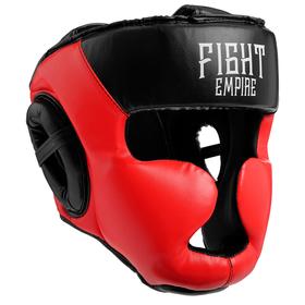 Шлем боксёрский соревновательный FIGHT EMPIRE, размер L, цвет красный
