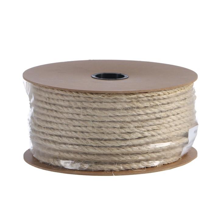 Верёвка сизалевая крученая  8,0 мм (100 м), катушка