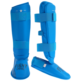 FIGHT EMPIRE shin + foot protection, size XL, blue