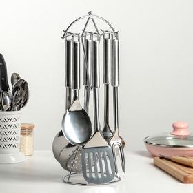 Набор кухонных принадлежностей «Основа», 6 предметов, на подставке