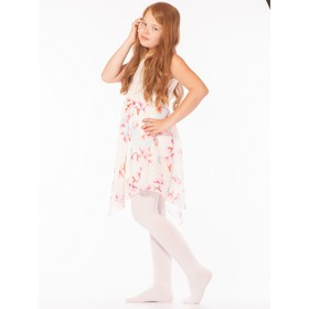 Children's tights, 80 den color white (bianco), height 128-134