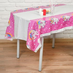 Скатерть «Единорог на розовом», 108х180 см