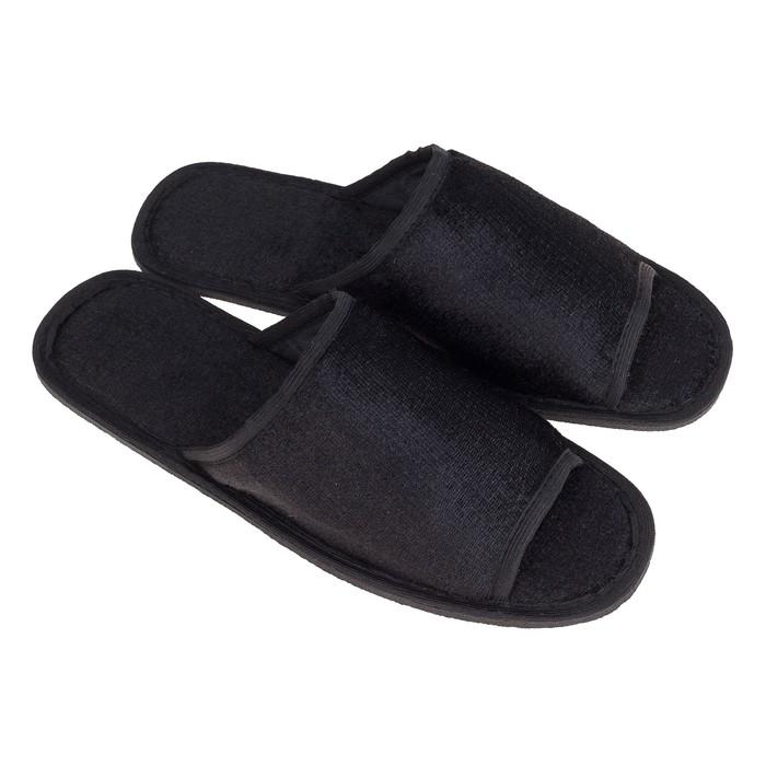 Тапочки мужские, цвет чёрный, размер 40-41