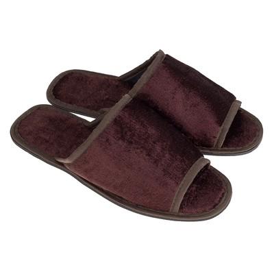 Slippers mens TAP MODA art. 22, brown, size 42/43