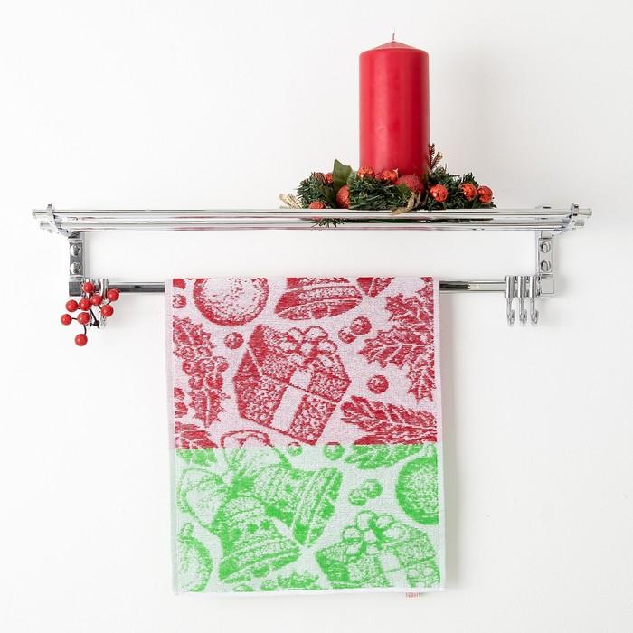 Полотенце махровое Privilea, арт. 19С4 рисунок Подарок 2, цвет красный, размер  50х30, 100%   448839