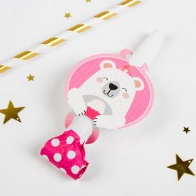 Карнавальный язычок «Мишка», набор 6 шт., цвет розовый в Донецке