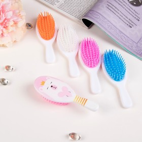 Massage brush # 6 oval BEAR a 4.5*13cm rubber MIX pack QF