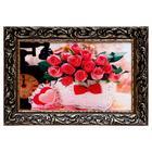 """Painting """"Roses in basket"""" 27х37см"""