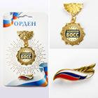 Наградной набор орден и значок «Зол. босс», флаг 11 х 10 см