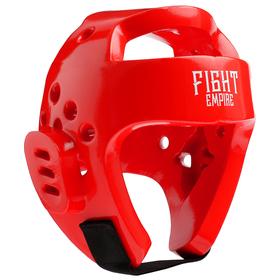 Шлем боксёрский тренировочный FIGHT EMPIRE, размер L, цвет красный