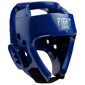 Шлем боксёрский тренировочный FIGHT EMPIRE, размер M, цвет синий