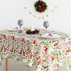 Скатерть Доляна «Рождественские подарки» 145×300 см, 100% п/э