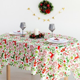 "Tablecloth Share ""Christmas gifts"" 145×300 cm, 100% p/e"