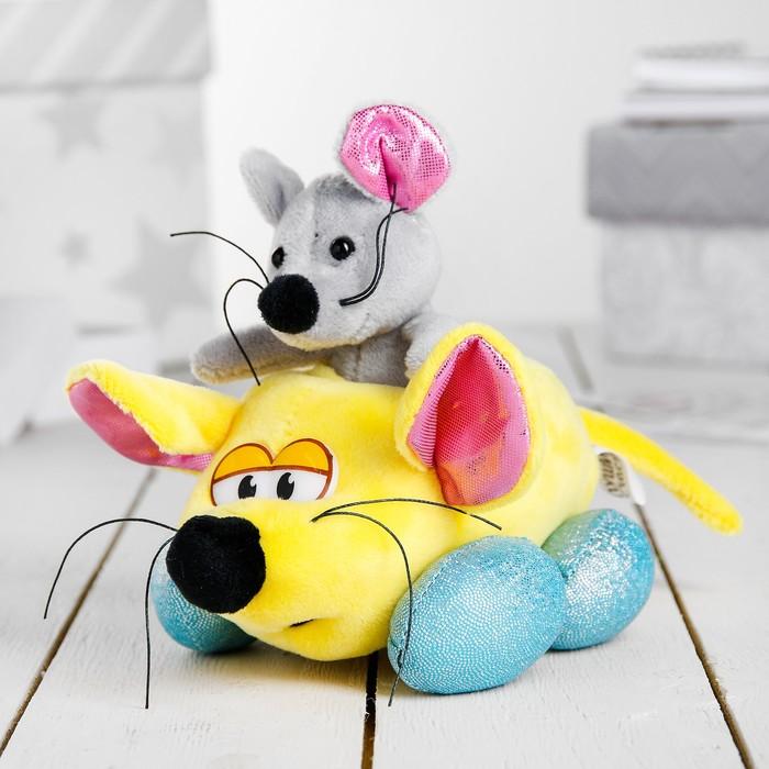 """Мягкая игрушка """"Мышь в машинке"""""""