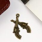 """Decor art metal """"Two gun"""" bronze 2,9x2,1cm"""