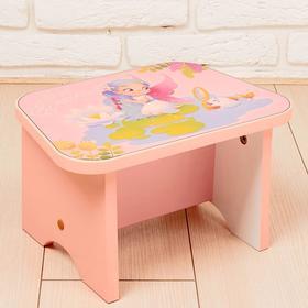 Подставка-стул деревянная «Фея», розовый