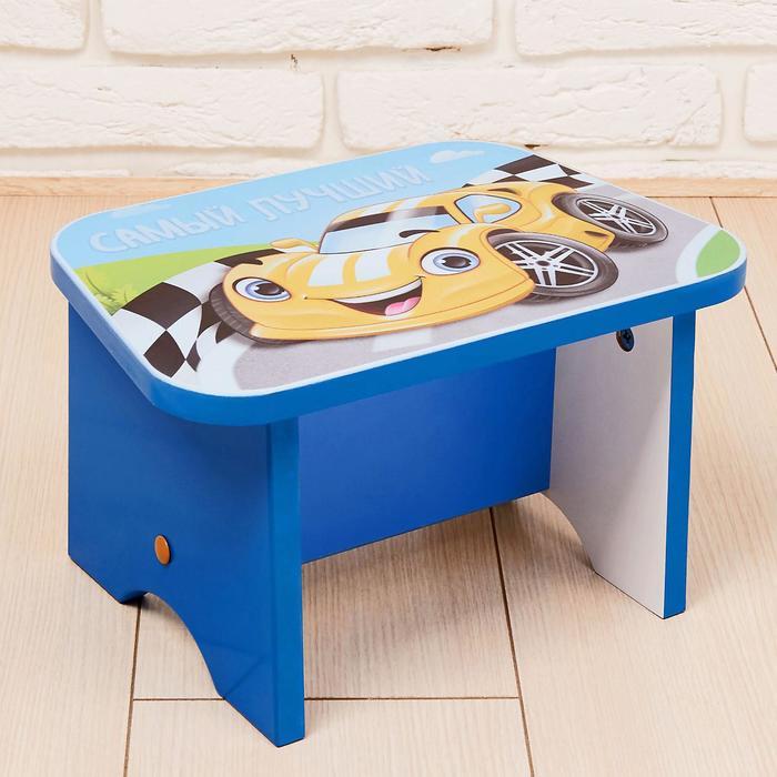 Подставка-стул деревянная «Машинка», синий - фото 798261137