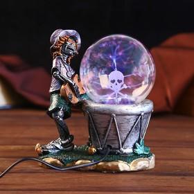 "Плазменный шар ""Скелет с гармошкой/гитарой"" МИКС 18х16х18 см"
