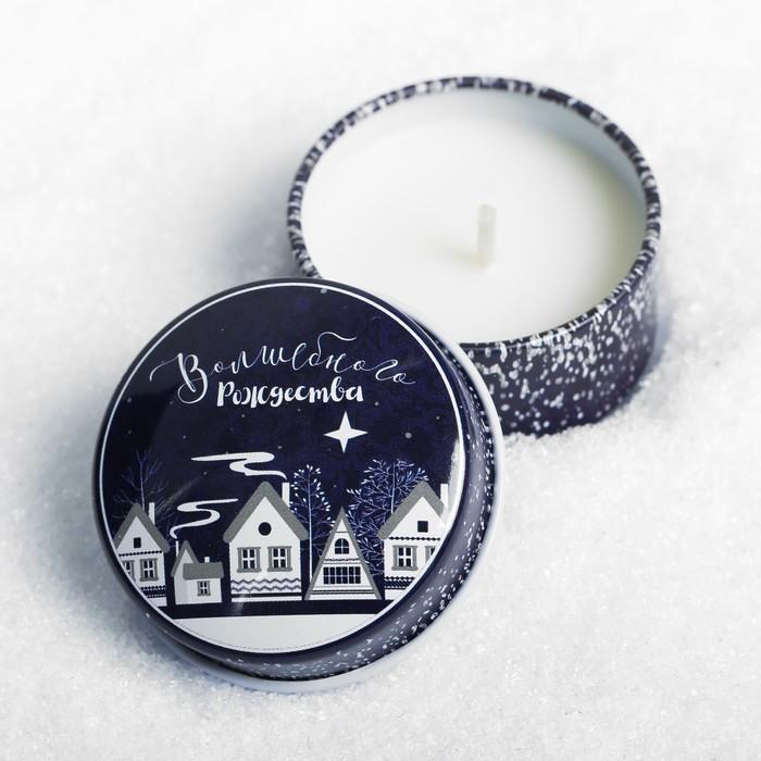 Свеча в баночке «Волшебного Рождества» - фото 308740090