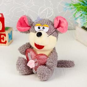 Игрушка-присоска «Мышонок с сердцем», цвета МИКС в Донецке