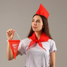 "A set of pioneer ""don't tempt pioneer""forage cap,pennant,tie"
