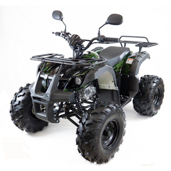 Квадроцикл бензиновый MOTAX ATV Grizlik-8 1+1 125 cc, черно-зеленый