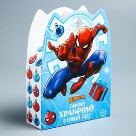 """Коробка складная """"С Новым годом!"""", Человек-паук, 15 х 11 х 5 см"""