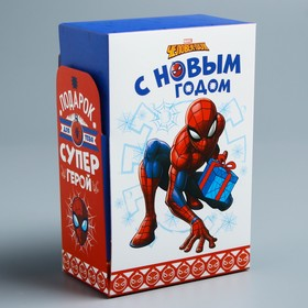 """Коробка складная """"С Новым годом"""", Человек-паук, 10 х 16 х 6см"""